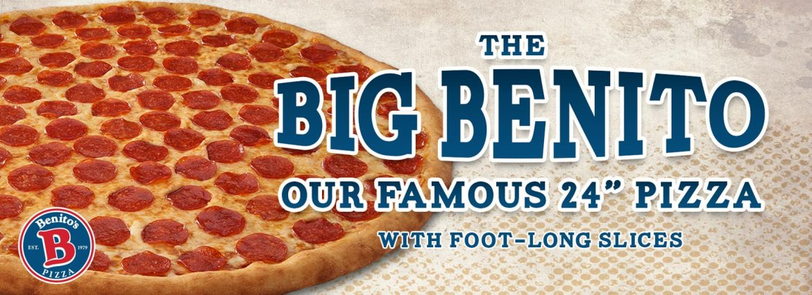 Big Benito 24 inch Famous Pizza